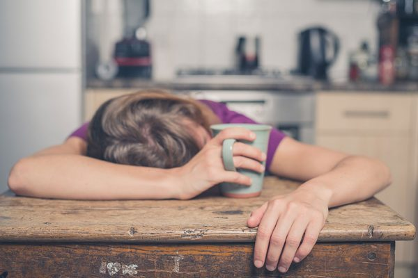 A woman's mental health is deteriorating as she is falling asleep during the day.